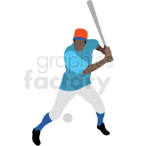 black man playing baseball vector clipart clipart. Royalty-free image # 409655