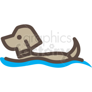dog in water vector icon clipart clipart. Royalty-free image # 409690