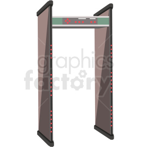 tsa full body scanner airport security clipart. Commercial use image # 409701