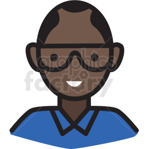 black nerd male avatar vector clipart clipart. Royalty-free icon # 409741