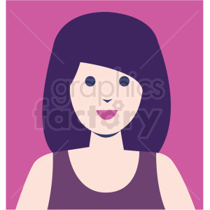 girl bride avatar pink background vector icon