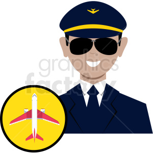 cartoon airplane pilot clipart. Royalty-free image # 409772