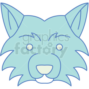 fox head icon clipart. Royalty-free image # 409822