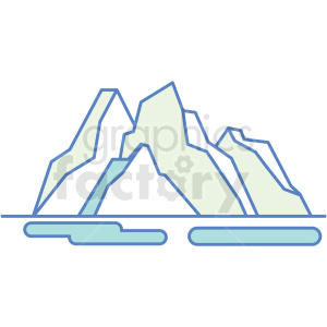 mountain icon clipart. Royalty-free image # 409826