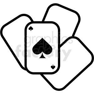playing cards icon clipart. Royalty-free image # 409920