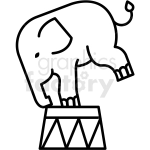 black and white circus elephant icon clipart. Royalty-free image # 409925