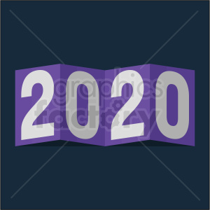 2020 card new year clipart on dark blue background clipart. Royalty-free image # 410030