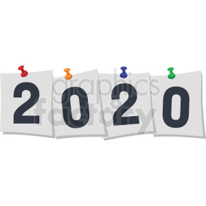 2020 pinned papper new year clipart clipart. Royalty-free image # 410039