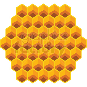 honeycomb design vector clipart no background