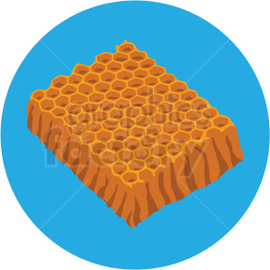 piece of honeycomb vector clipart blue background clipart. Commercial use image # 410083