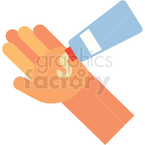 lotion on cartoon hand vector icon clipart. Royalty-free image # 410097