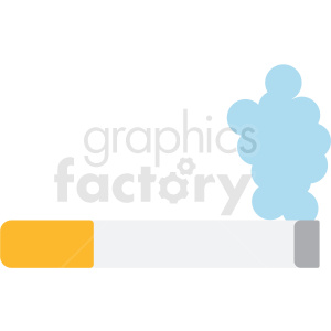 cigarette smoking vector icon clipart. Royalty-free image # 410123