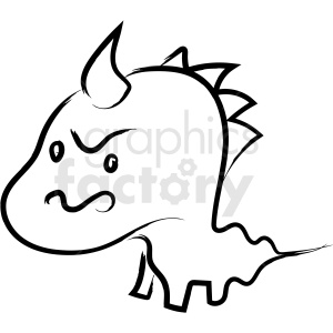 cartoon dragon drawing vector icon clipart. Royalty-free image # 410221
