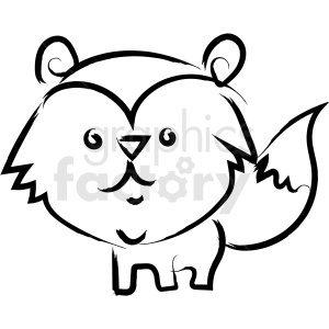 racoon drawing vector icon clipart. Royalty-free image # 410224