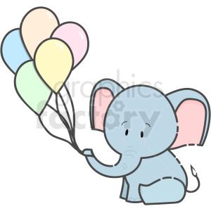 Baby Elephant vector clipart clipart. Commercial use image # 410264