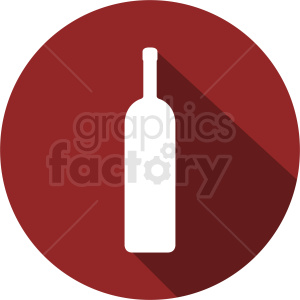 wine bottle on red circle icon clipart. Commercial use image # 410282