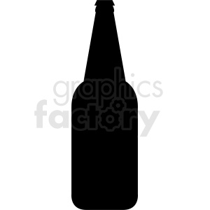40oz bottle silhouette clipart clipart. Royalty-free image # 410291