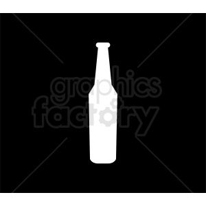 white bottle silhouette clipart on black background