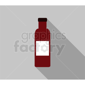 red glass bottle with label vector clipart. Commercial use image # 410316