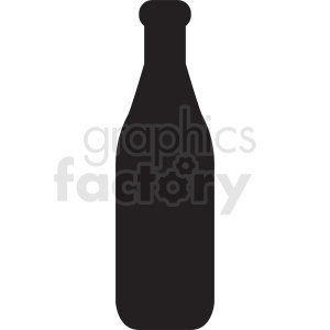 silhouette of milk bottle no background clipart. Royalty-free image # 410341