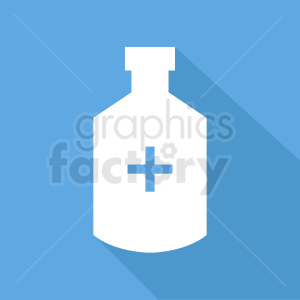 medication bottle blue background clipart. Commercial use image # 410347