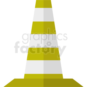 yellow construction zone cone vector clipart no background clipart. Royalty-free image # 410354