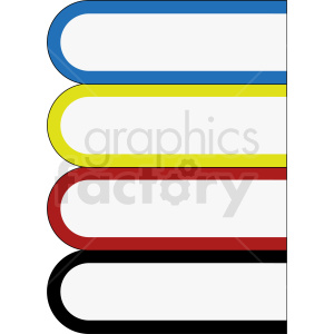 vector book stack clipart clipart. Royalty-free image # 410359