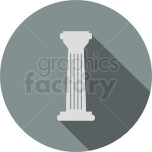 greek column icon on circle background clipart. Royalty-free image # 410402