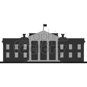 white house flat design clipart. Royalty-free image # 410406