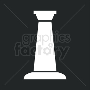 greek column black square background clipart. Commercial use image # 410407