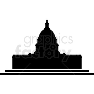 white house silhouette vector clipart. Commercial use image # 410411