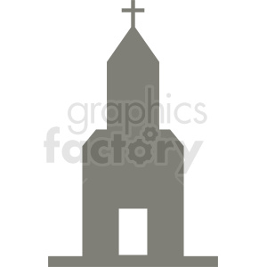church silhouette vector clipart. Royalty-free image # 410441