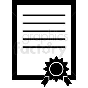certificate vector icon clipart. Commercial use image # 410466