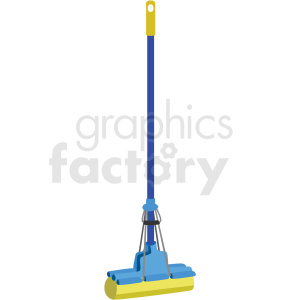 floor mop vector clipart clipart. Commercial use image # 410549