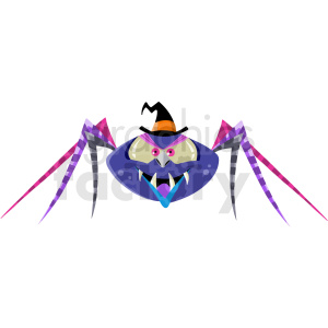 spider dressed up for Halloween clipart. Royalty-free image # 410557