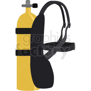 yellow scuba air tank vector clipart clipart. Commercial use image # 410582