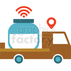 agriculture delivery system vector icon clipart. Royalty-free image # 410622