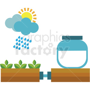sustainable agriculture system vector icon clipart. Royalty-free image # 410624