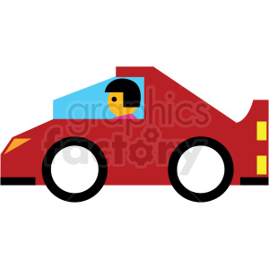 red cartoon sports car clipart. Commercial use image # 410672