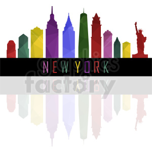 colorful New York city design clipart. Commercial use image # 410762