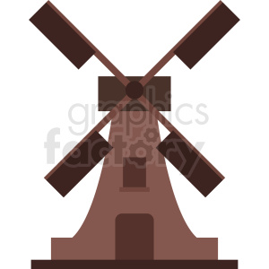 cartoon windmill vector clipart clipart. Royalty-free image # 410764