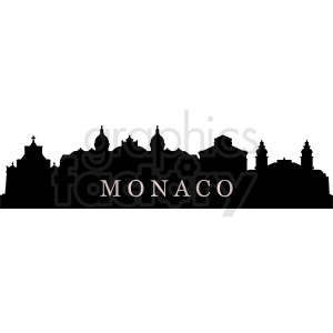 vector monaco city skyline design clipart. Commercial use image # 410777