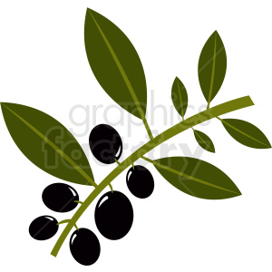 olive branch vector clipart clipart. Commercial use image # 410798