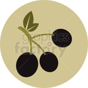 olives on a branch vector icon clipart. Royalty-free image # 410804