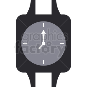 square watch vector clipart clipart. Royalty-free image # 410823