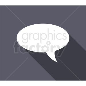 speech bubble vector clipart on gray background clipart. Commercial use image # 410845