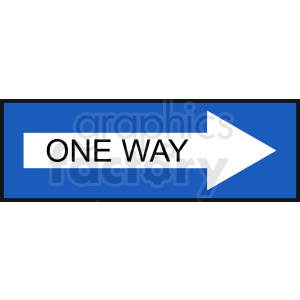 one way sign vector clipart clipart. Royalty-free image # 410847