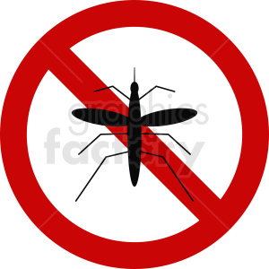 no bugs vector icon clipart. Commercial use image # 410854