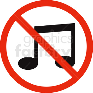 no music vector icon clipart. Commercial use image # 410876