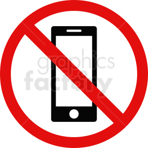 no cell phones vector icon clipart. Royalty-free image # 410893
